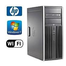 HP 6200 Pro Tower - Intel Quad Core i5-2400 3.10GHz - 4GB DDR3 RAM - 1TB HDD - Windows 7 Professional 64-Bit - WiFi (Prepared by ReCircuit)