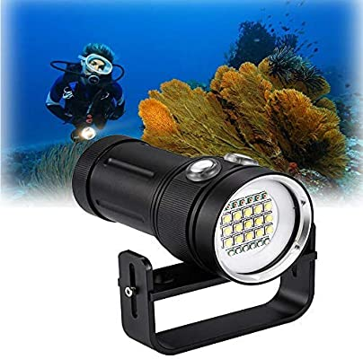 6 UV light Diving Flashlight 15x Cree XML2 White Light 6 Red Light Dive Torch
