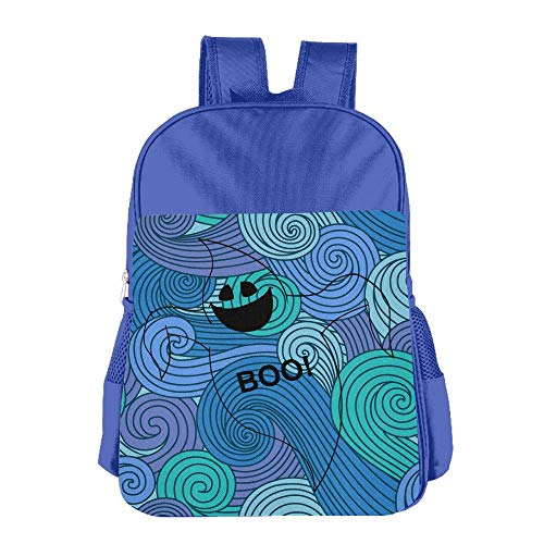 School Children'S School Bag Boo Halloween Scary Bed Sheet Ghost Cute Lightweight Backpack Or Travel Bag Royalblue]()