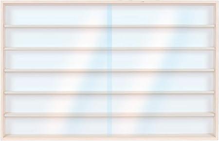 per modellismo in legno di betulla Vetrina V13 vetrinetta 100 x 58 x 8,5 cm