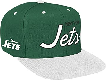 143aa178453 Image Unavailable. Image not available for. Color  NFL Mitchell   Ness New  York Jets Green-White Special Script Snapback Adjustable Hat