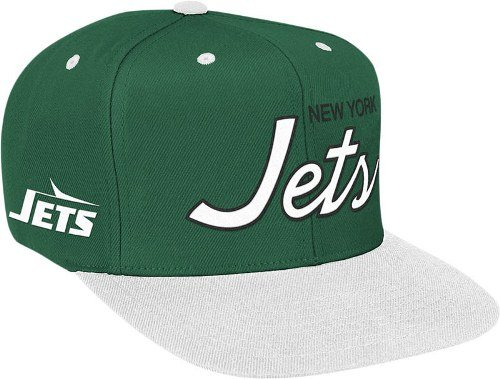 1c0fed9c9 Image Unavailable. Image not available for. Color: NFL Mitchell & Ness New  York Jets Green-White Special Script Snapback Adjustable Hat