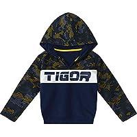 Blusão Tigor T. Tigre Azul Menino Blusão Tigor T. Tigre Azul Bebê Menino - Tam. 1.5