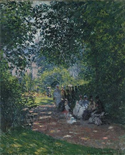 [Oil Painting 'The Parc Monceau, 1878 By Claude Monet', 24 x 30 inch / 61 x 75 cm , on High Definition HD canvas prints is for Gifts And Bar, Living Room And Powder Room Decoration,] (Diy Snow Globe Costume)