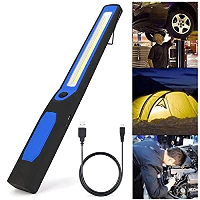 LtrottedJ Rechargeable Work Light, 2in1 Rechargeable LED COB Camping Work Inspection Light Lamp? Hand Torch Magnetic