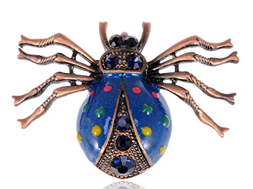 Eisenberg Costumes Jewelry Brooches - Alilang Capri Blue Rhinestones Colorful Spots