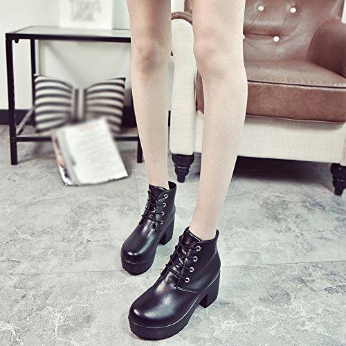 plate - forme de veau bottes militaires d'orteil noir veau de la cheville sur dc0635