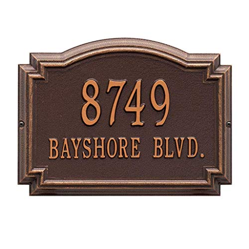 Comfort House Metal Address Plaque Personalized Cast