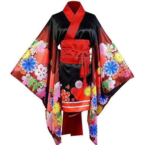 Allten Women's Cosplay Costume Super Sonico Kimono L