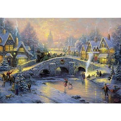 Schmidt Spiele 58450 Thomas Kinkade Villaggio Invernale Puzzle Da 1000 Pezzi