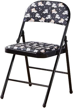 Nueva Silla plegable sillas de comedor, Silla plegable patrón de dibujos animados, Sillas plegables, sillas plegables jardín interior, la superficie de cuero de la PU, resistente al desgaste y resiste: Amazon.es: Hogar