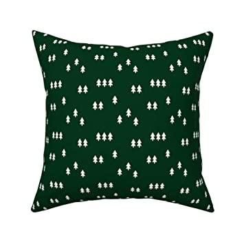 Admirable Amazon Com Roostery Throw Pillow Tree Trees Forest Green Customarchery Wood Chair Design Ideas Customarcherynet