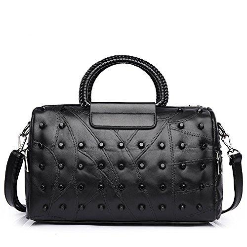 ZENTEII Women Faux Synthetic Leather Boston Handbag Shoulder Bag (Messenger Bag Boston)