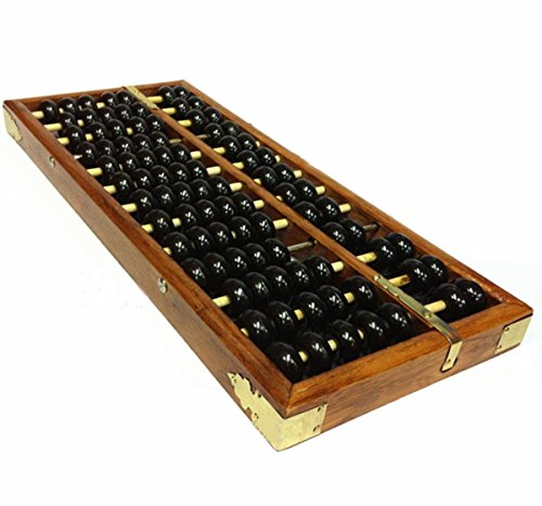 Ewandastore Portable Vintage Style Chinese Wooden Abacus Chinese Lucky Calculator School Math Learning Tool