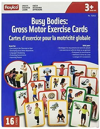 Roylco R62012 Busy Body - Gross Motor Exercise Cards