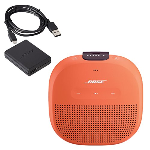 Bose SoundLink Micro Waterproof Bluetooth Speaker, Bright Orange, with Bose Wall Charger by Bose