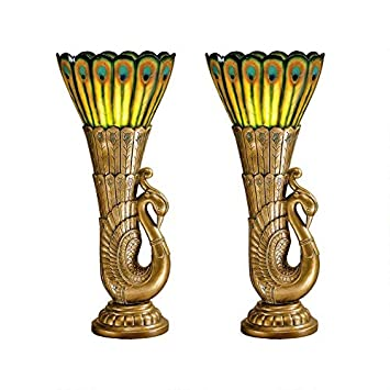Amazon.com: Design Toscano pavo real Esculturales Art Deco ...