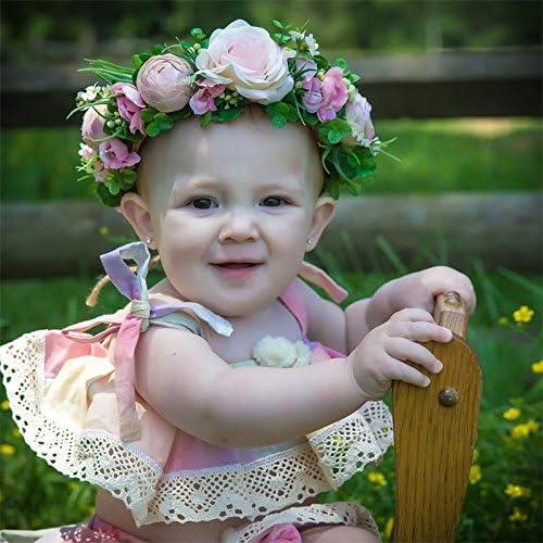 docotor akio 2pcs Baby Girls Summer Rainbow Set Stripe Bowknot Straps Top+Tutu Lace Dress