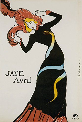 Henri Toulouse Lautrec Jane Avril - Jane Avril (snake dress) Vintage Poster (artist: Toulouse Lautrec, Henri De) France c. 1899 (24x36 SIGNED Print Master Giclee Print w/Certificate of Authenticity - Wall Decor Travel Poster)
