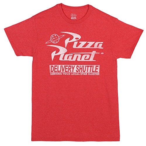 Toy Story Pizza Planet Delivery Adult T-shirt - Red (XX-Large) (Toy Story T Shirt)