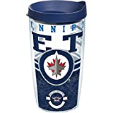 Tervis 1165406 NHL Winnipeg Jets Core Tumbler with Wrap and Navy Lid 16oz, Clear