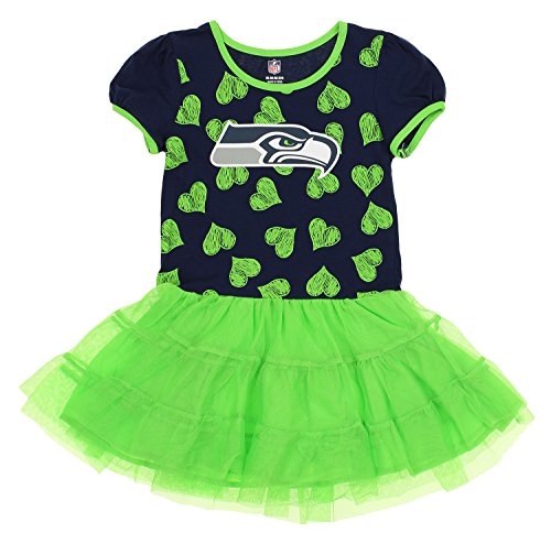 Outerstuff NFL Kids Girls Seattle Seahawks Love To Dance Tutu, Green Large (6X) by Outerstuff
