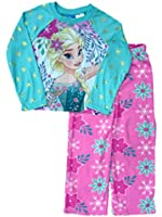 Disney Frozen Girls 2 Piece Princess Elsa Top & Bottoms Pajama Sleep Set PJ