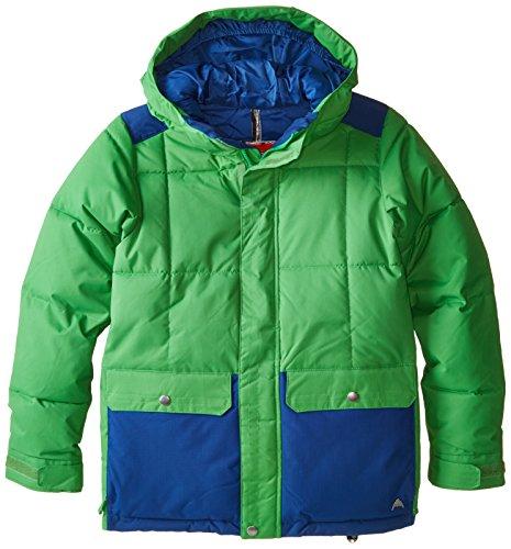 Burton Boy's Tundra Puffy Jacket, Slime/Boro, Small (Layer Jacket Puffy)