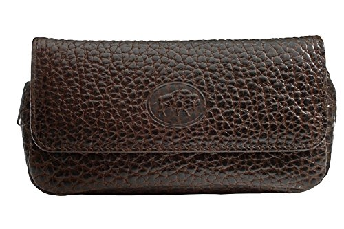 Martin Wess Germany ''Bison'' Buffalo Leather Combo Tobacco Pouch 2 Pipe Bag Case by Martin Wess
