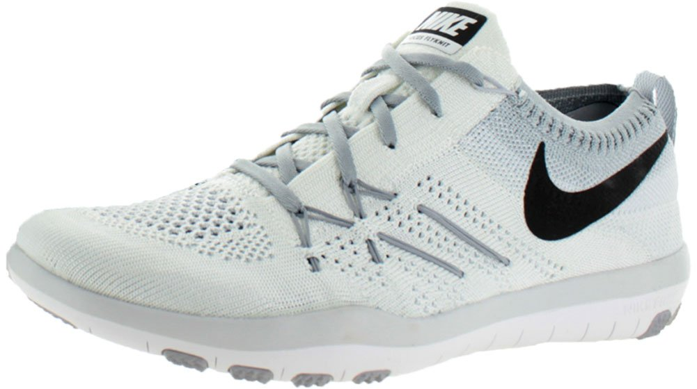 NIKE Womens Free Focus Flyknit Mesh Breathable Trainers B01IO57O6U 7.5 D(M) US|White/Black-Wolf Grey