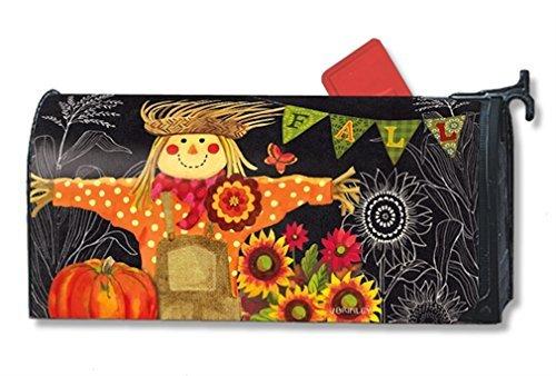 MailWraps Burlap Scarecrow Mailbox Cover #01221