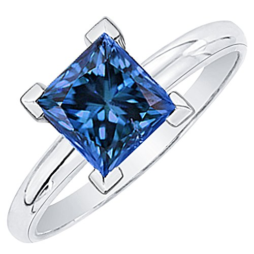 White Gold Classic Single Ring - 4