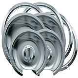 Range Kleen 1056RGE8 GE Hinged Drip Pans and Trim Rings...