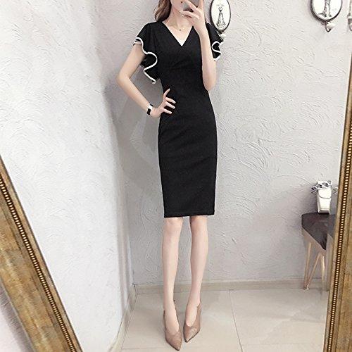 Xuanytp Vestido De Punto/Vestido De Encaje/Vestido/Falda Negra ...