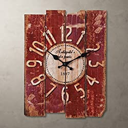 zhENfu 15 Country Style Vintage Wall Clock Wall Clock