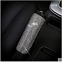 LuckySHD PU Leather Car Handbrake Cover with Bling Rhinestones Car Accessories Case