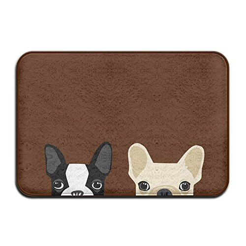 Boston Garden Rug - Doormat bags Boston Terrier And French Bulldog Antislip Front Rug Pet Feeding Rug