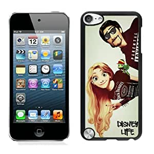 iPod Touch 5 Cover Case,Swag Life Disney Tangled Rapunzel Rasta Pascal Indie Black Cool Customized iPod Touch 5 Case