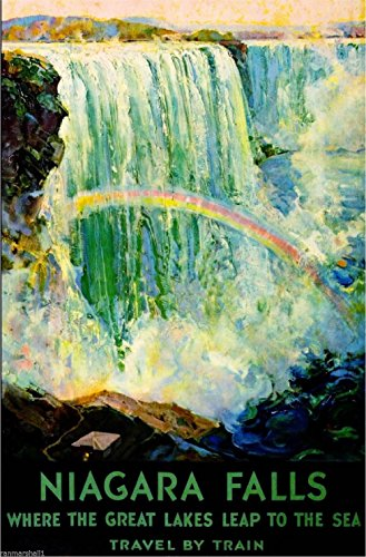 - A SLICE IN TIME Niagara Falls Train York United States Travel Advertisement Art Poster