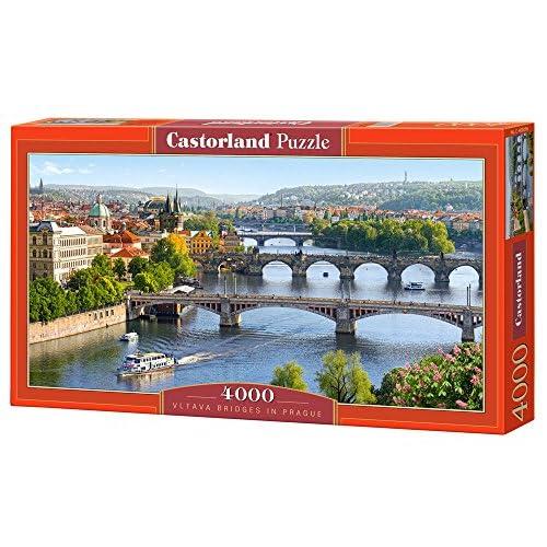 Castorland C-400096-2 - Puzzle - Ponts Sur la Rivière Vltava - Prague - 4000 Pièces