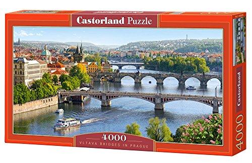 Castorland - Vltava Bridges in Prague 4000 piece panoramic puzzle