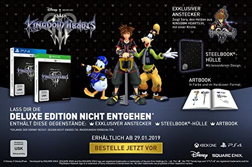 Kingdom Hearts III Deluxe Edition (PlayStation PS4) (USK): Amazon ...
