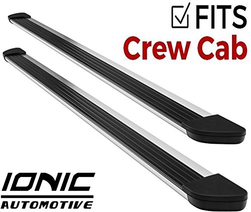 Ionic Gladiator Brite Running Boards 2015-2018 Chevy Colorado GMC Canyon Crew Cab
