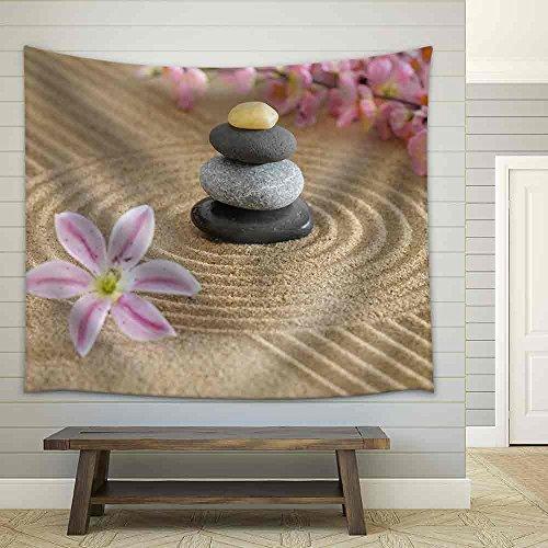 Zen Garden in Sand Fabric Wall Tapestry