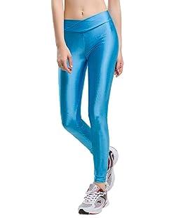YiyiLai Legging Gainant Femme Pantalon Grande Taille Haute Collant Amincissant Yoga Sport Ciel Bleu Tour Taille 64-84cm