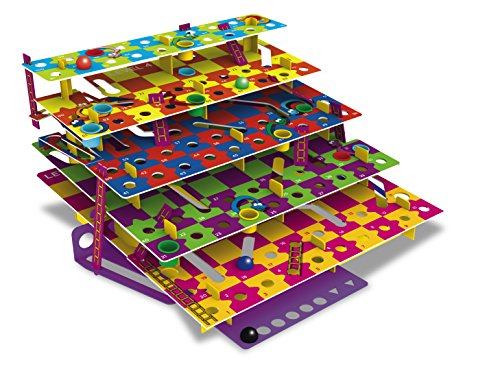 Multi-Level Snakes & Ladders - a colorful modern take on a classic game. Land on a ladder to climb levels, or a snake and slide through tunnels to a lower level. Fun family game with 5 unique levels! ()