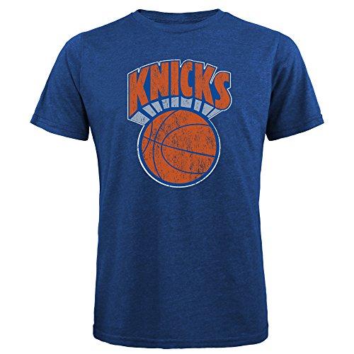 NBA New York Knicks Men's Premium Triblend Crew Tee, X-Large, Royal (The New York Knicks)