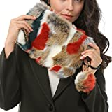 Dikoaina Fashion Women Faux Fur Handbag Evening Clutch Phone and Wallet Purse Lady Bag (Color04)