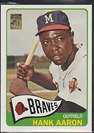 2000 Topps Hank Aaron Braves Baseball Card 170 1965 Reprint At