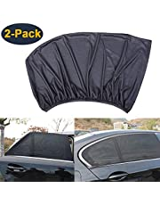 HEYUS [2 Pack] Universal Car Sun Shades Sunshade Cover for Rear Side Window Provides Maximum UV Protection for Baby Children Kids and Dog Mesh Material-Extra Large Size